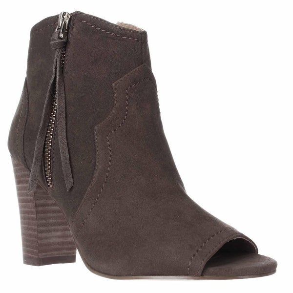 XOXO Barron Open Toe Western Booties, Taupe