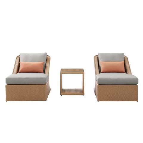 Martha Stewart Colton 5-Piece Conversation Set in Orange and Grey