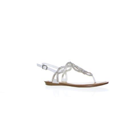 Fergalicious Womens Supra White Sandals Size 5