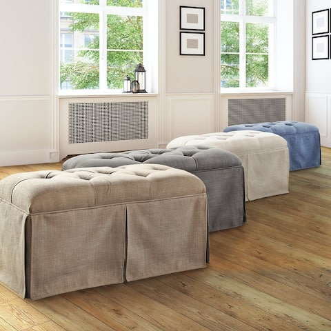 Furniture of America Hald Transitional Solid Wood Storage Bench