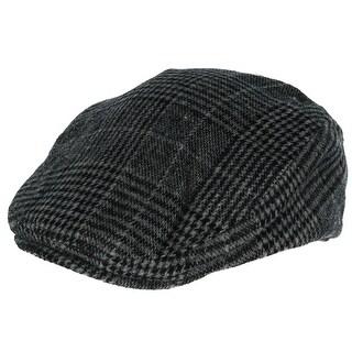 David & Young Men's Plaid Wool Ivy Cap