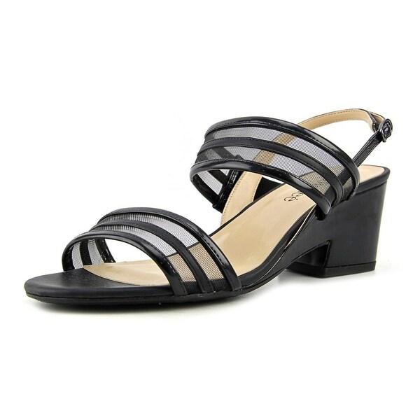 J. Renee Erma Women Open-Toe Synthetic Black Slingback Heel