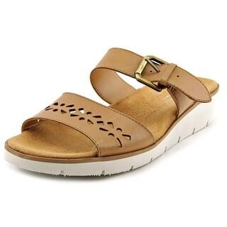 Naturalizer Daria Open Toe Leather Wedge Heel