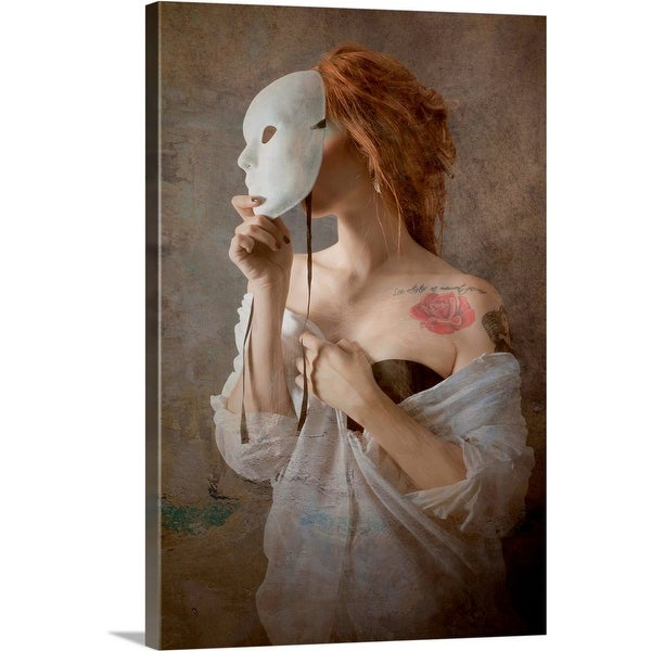 """""""Seeing through the mask"""" Canvas Wall Art"""