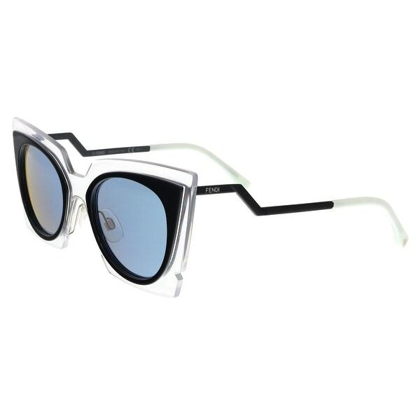 4a567cf88a31 Shop FENDI 0117 S 0IBZ- 3J Black Irregular Sunglasses - 49-22-140 ...