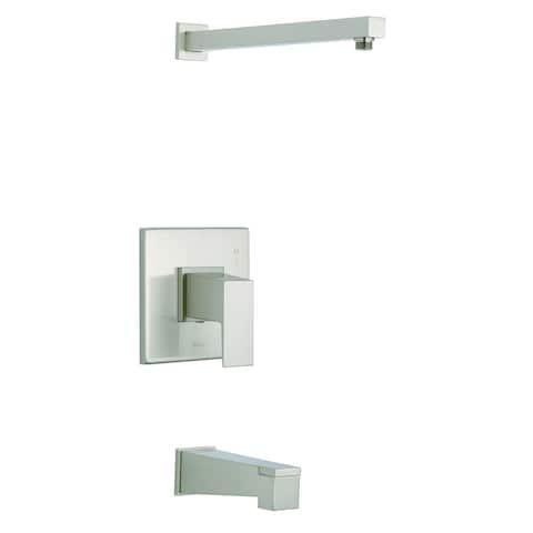 Mid-Town 1H Tub & Shower Trim Kit & Treysta Cartridge w/ Diverter on Spout Less Showerhead Brushed Nickel