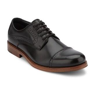 G.H. Bass & Co. Mens Tinton Leather Dress Cap Toe Oxford Shoe