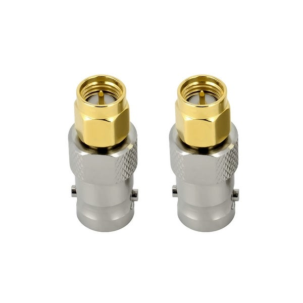 SMA Male to BNC Female RF Connector Adapter, Pair