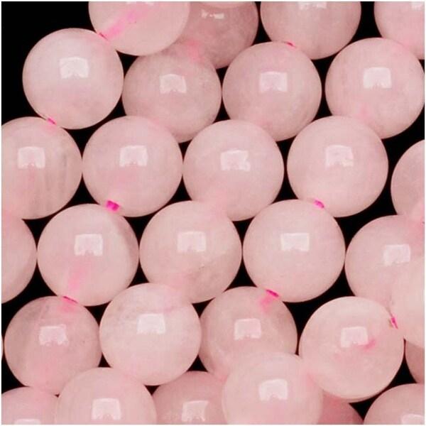 Rose Quartz Gemstone Round Pink Beads 6mm 15.5 Inch Strand