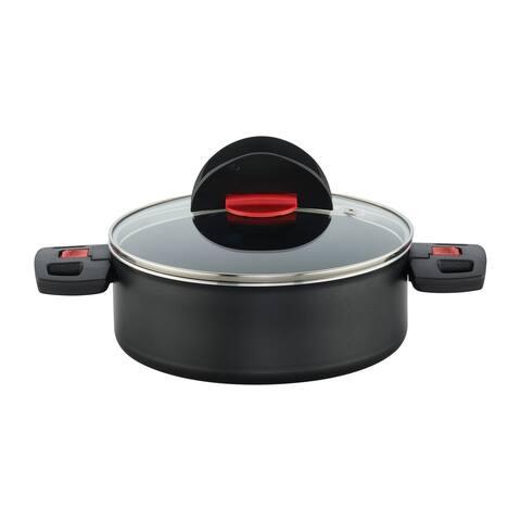 Ballarini Click & Cook Nonstick Saute Pan w/Lid - Black