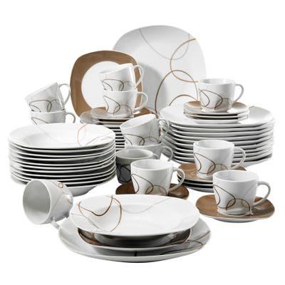 VEWEET 'Nikita' Porcelain Dinnerware Set (Service for 6)