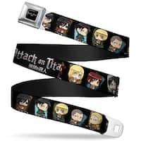 Attack On Titan Logo Full Color Black White Red Attack On Titan Chibi Seatbelt Belt