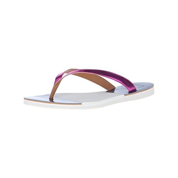Dolce Vita Womens Evie Flip-Flops Metallic Thong