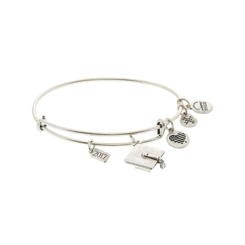 "Alex And Ani Women's Graduation Bangle Bracelet - 9"" - Silver"