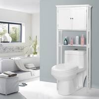 Costway Toilet Storage Space Saver Towel Rack Shelf Cabinet Collette Bathroom Furniture