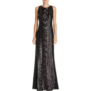 Adrianna Papell Womens Formal Dress Sequined Cable Pattern