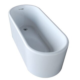 "Anzzi FT-AZ008 Century 66-13/16"" Acrylic Free Standing Soaking Tub - Includes Dr"