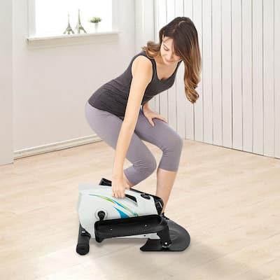 Mini Elliptical Machine, Compact Fitness Under Desk/Stand Up Elliptical