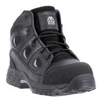 """McRae Industrial Men's 6"""" Non Metallic Composite Toe MR86300 Black Full Grain Leather"""