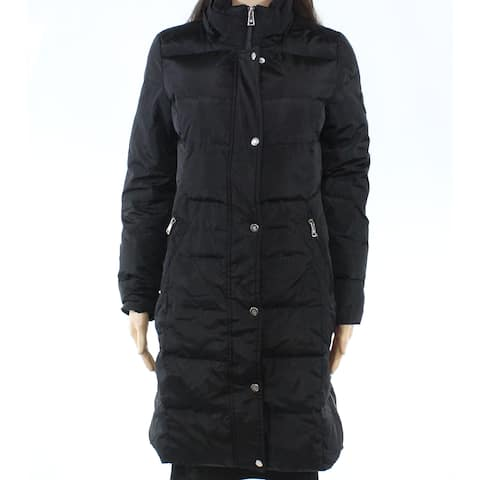Lauren by Ralph Lauren Womens Jacket Black Size XS Quilted Faux-Fur