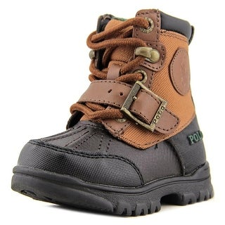 Polo Ralph Lauren Colbey Boot Toddler  Round Toe Leather Brown Boot
