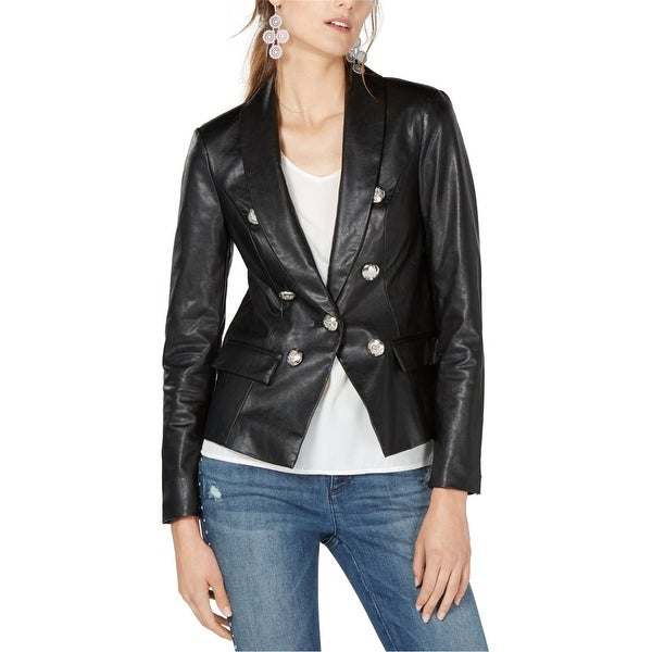I-N-C Womens Faux Leather Blazer Jacket. Opens flyout.
