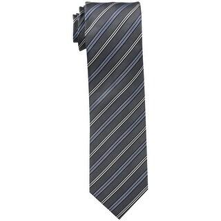 Kenneth Cole Reaction NEW Gray Slim Striped Men's Neck Tie Silk Accessory 375