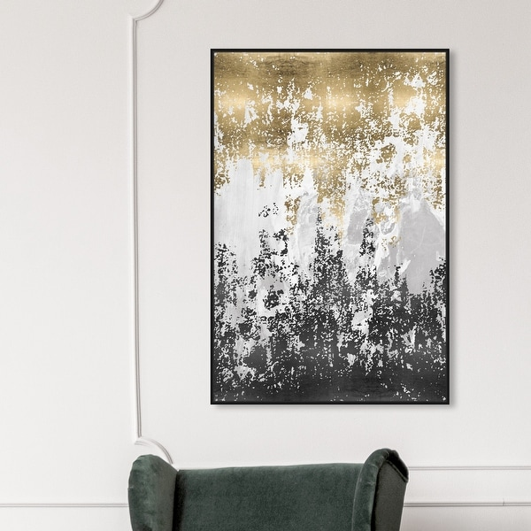 Oliver Gal 'Had a Moment' Abstract Wall Art Framed Canvas Print Paint - Gold, Black. Opens flyout.