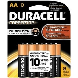 Duracell Coppertop Alkaline Batteries 1.5 Volt AA 10 Each