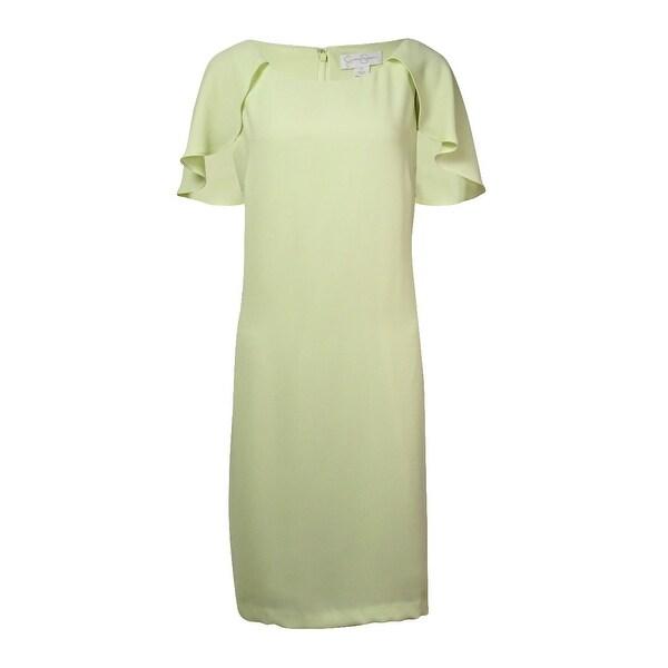 Jessica Simpson Women's Capelet Sheath Dress