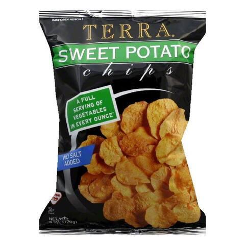 Terra Chips Chips Sweet Potato Plain, 6 OZ (Pack of 12)