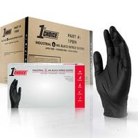 1st Choice Premium Black Nitrile Ind Latex Free Disposable Gloves