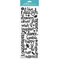 Jolee's Boutique Dimensional Stickers-Laugh & Love Black Glitter Words
