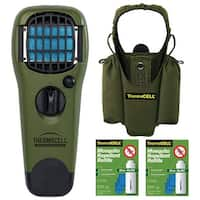 ThermaCELL Camper's Kit : Mosquito Repellent Appliance Olive, Holster, 2 Refills