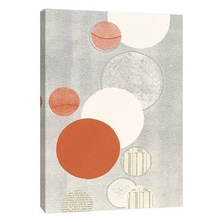 """PTM Images 9-105232  PTM Canvas Collection 10"""" x 8"""" - """"Light Gray Word Bubble"""" Giclee Abstract Art Print on Canvas"""