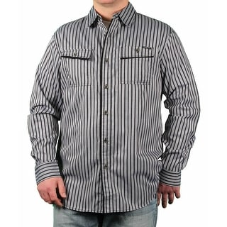 MO7 Men's Pencil-Striped Long Sleeve Woven Shirt