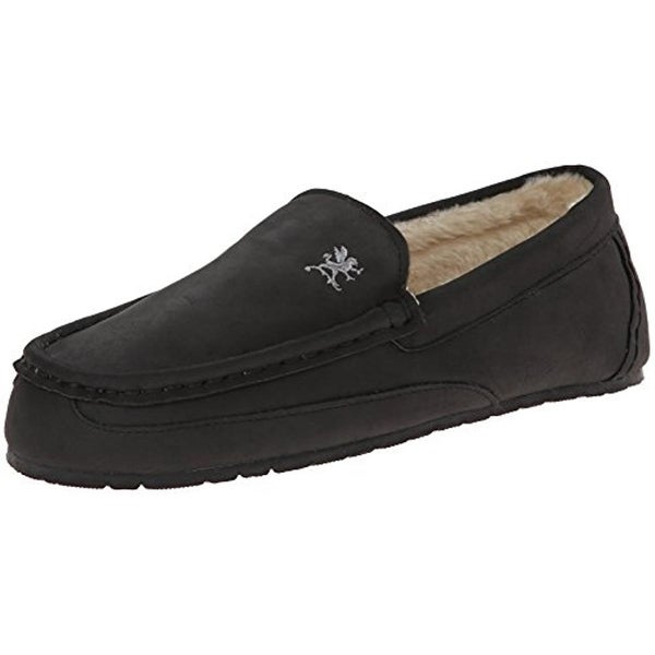 76664811e Stacy Adams Mens Kappy Loafer Slippers Faux Fur Slip On - 12 medium (d)