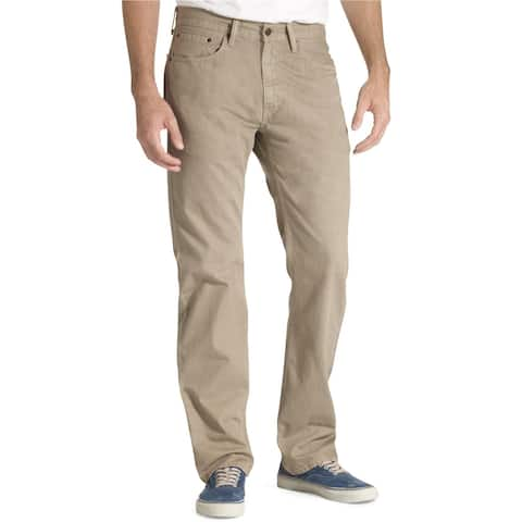Levi's Mens 505 Twill Regular Fit Jeans, Beige, 34W x 30L