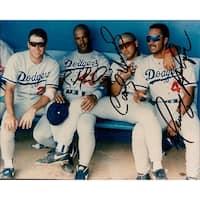 Signed Dodgers Los Angeles Raul MondesiCarlos HernandezHenry Rodriguez 8x10 Photo by Raul Mondesi C