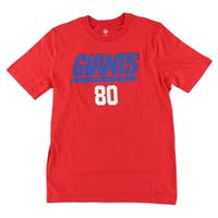 NFL Boys New York Giants Victor Cruz Name and Number T Shirt Red - red/white/royal blue