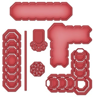 Spellbinders Shapeabilities Cut, Fold & Tuck Dies-Octagon Strips & Accents