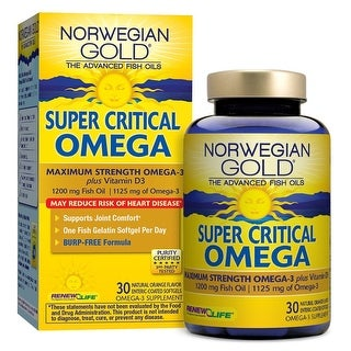 Renew Life Norwegian Gold Super Critical Omega - 30 Fish Gels