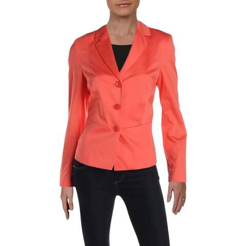 Basler Womens Three-Button Blazer Peplum Office - Pink