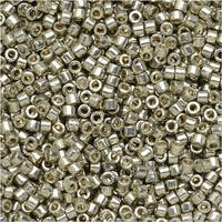 Miyuki Delica Seed Beads 11/0 - Duracoat Galvanized Light Smokey Pewter DB1851 7.2 Grams