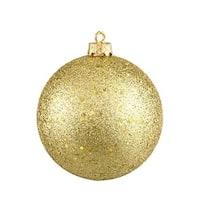 4 in. Shatterproof Christmas Ball Ornament, Vegas Gold &