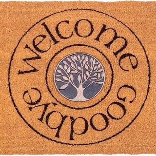 Fab Habitat - Welcome and Goodbye Doormat 18 x 30, Non-Slip, Durable