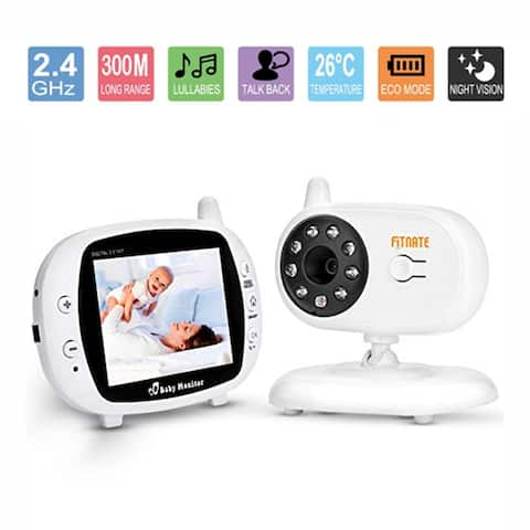"""Fitnate 3.5""""Video Baby Monitor with Camera Stand Shelf Wireless Night Vision 2 Way Talkback Audio - SIZE"""
