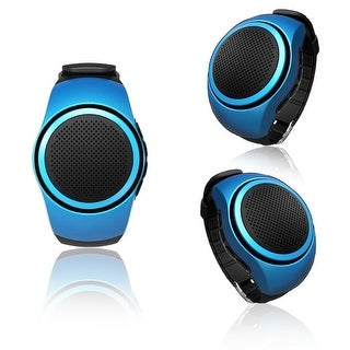 Indigi® B20 Rugged and Durable Bluetooth Wrist Speaker for iOS and Android + Remote shutter button + FM Radio (Blue)