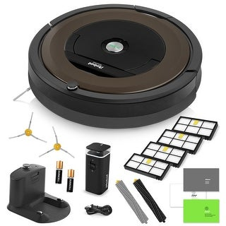 iRobot Roomba 890 Vacuum Cleaning Robot + Virtual Wall Barrier + 2 Side Brushes + 4 Filters + AeroForce Extractors + More