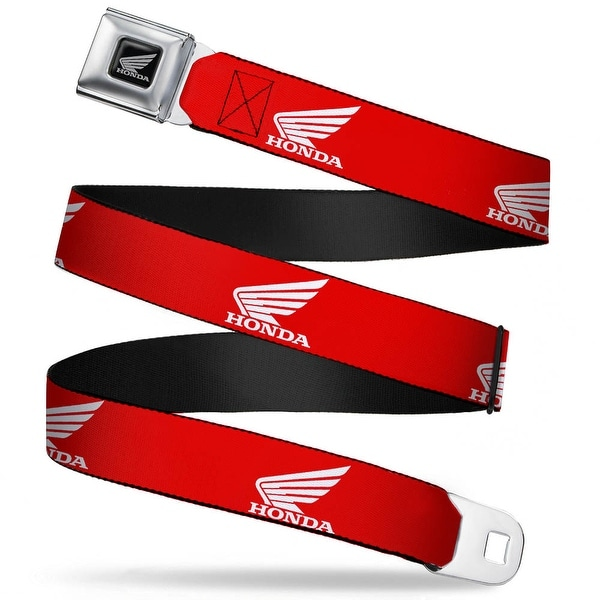 Honda Motorcycle Black Silver Honda Motorcycle Logo Red White Seatbelt Belt Seatbelt Belt